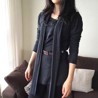 Merino Jersey cardigan top